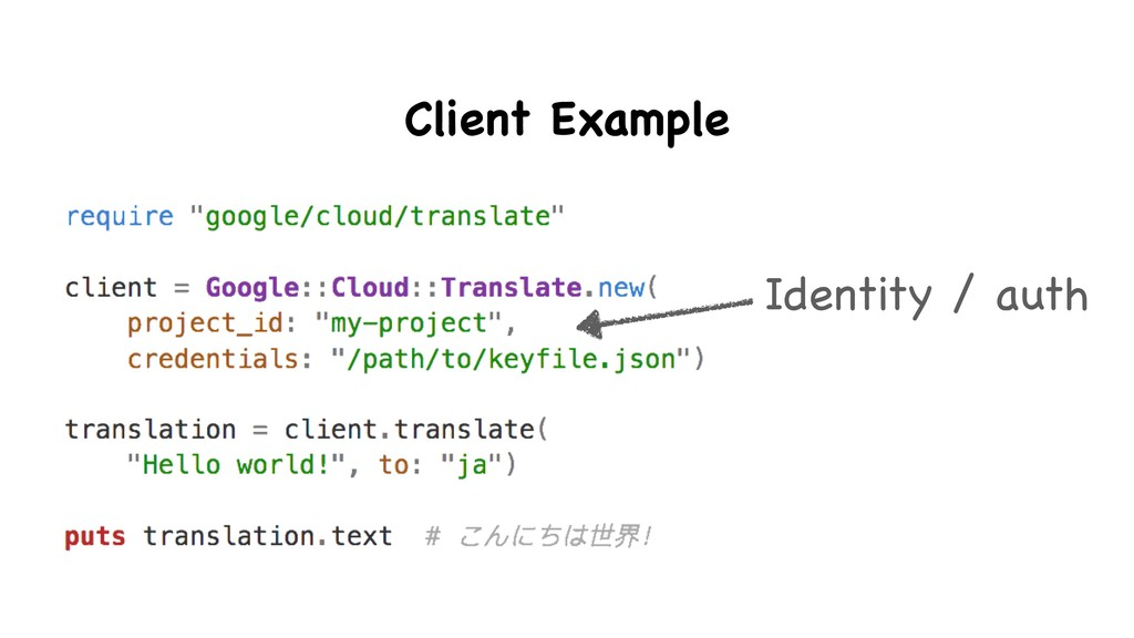 Identity / auth Client Example