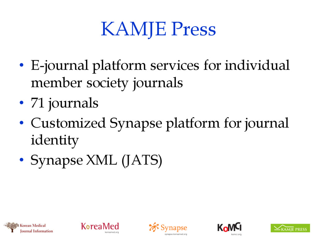 KAMJE Press • E-journal platform services for i...