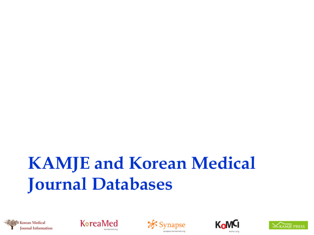 KAMJE and Korean Medical Journal Databases