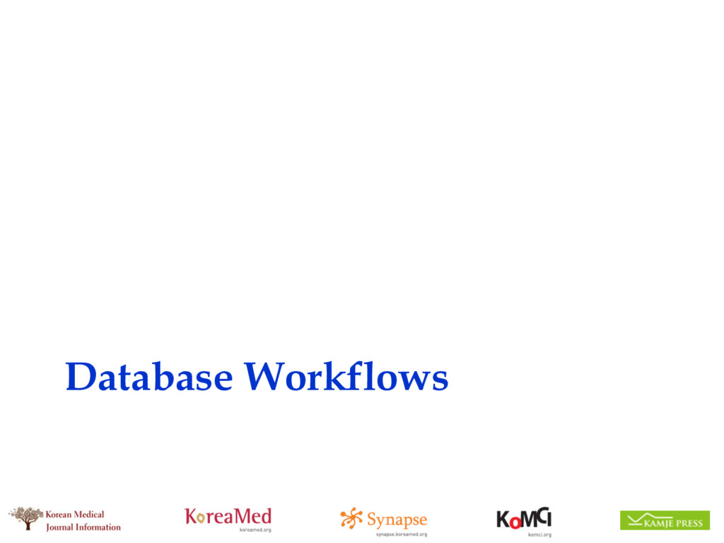Database Workflows