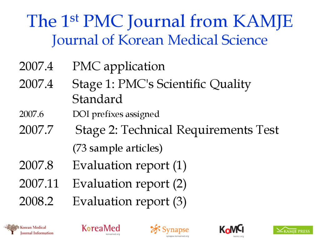The 1st PMC Journal from KAMJE Journal of Korea...