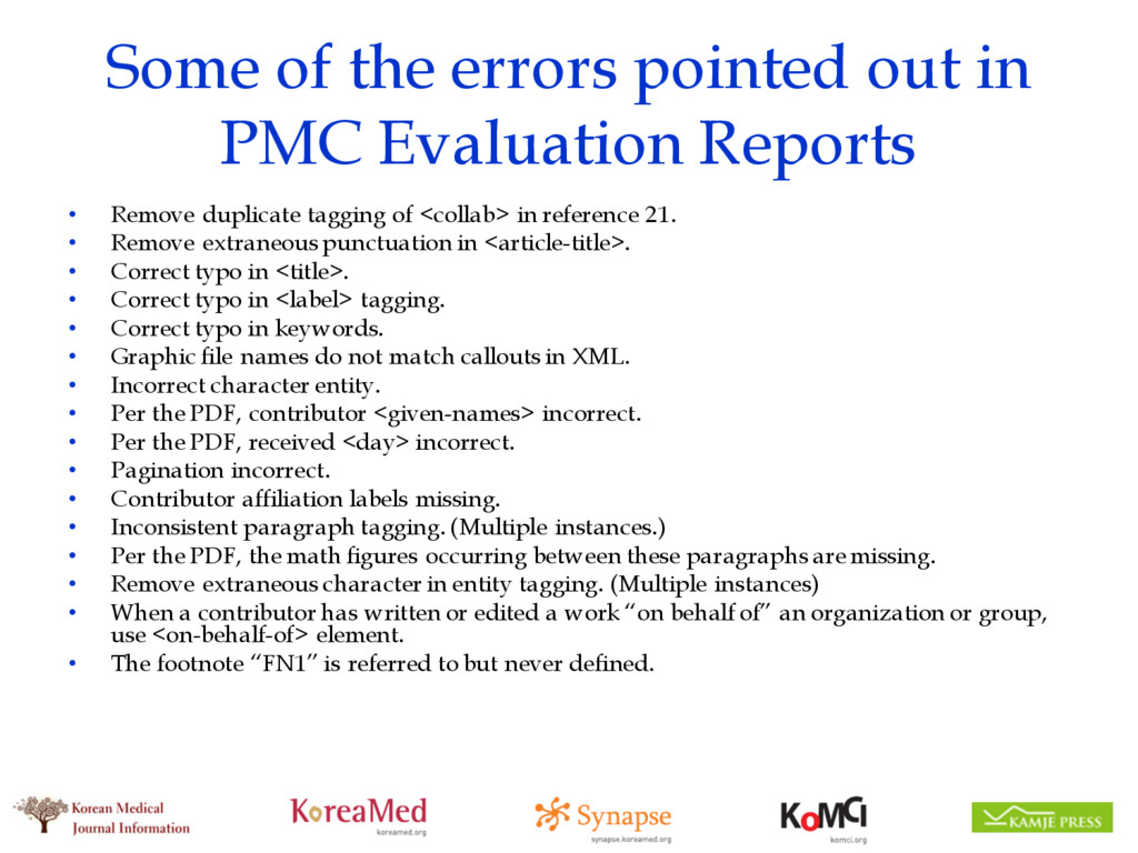 Some of the errors pointed out in PMC Evaluatio...