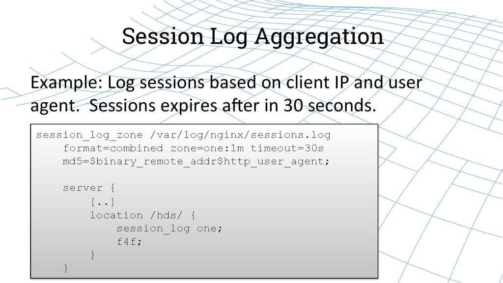 Session Log Aggregation Example: Log sess...