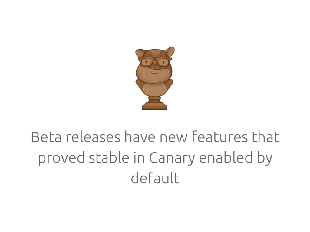 Beta releases have new features that proved sta...