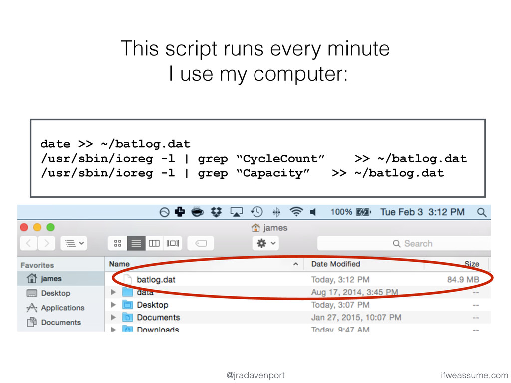 This script runs every minute I use my computer...