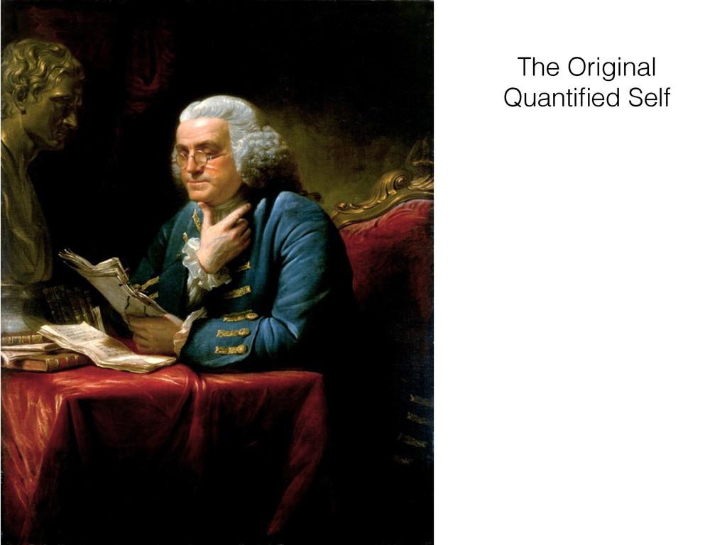 The Original Quantified Self