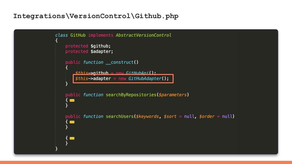 Integrations\VersionControl\Github.php