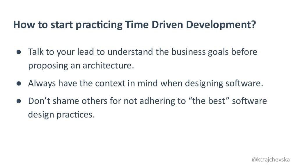 @ktrajchevska How to start pracDcing Time Drive...