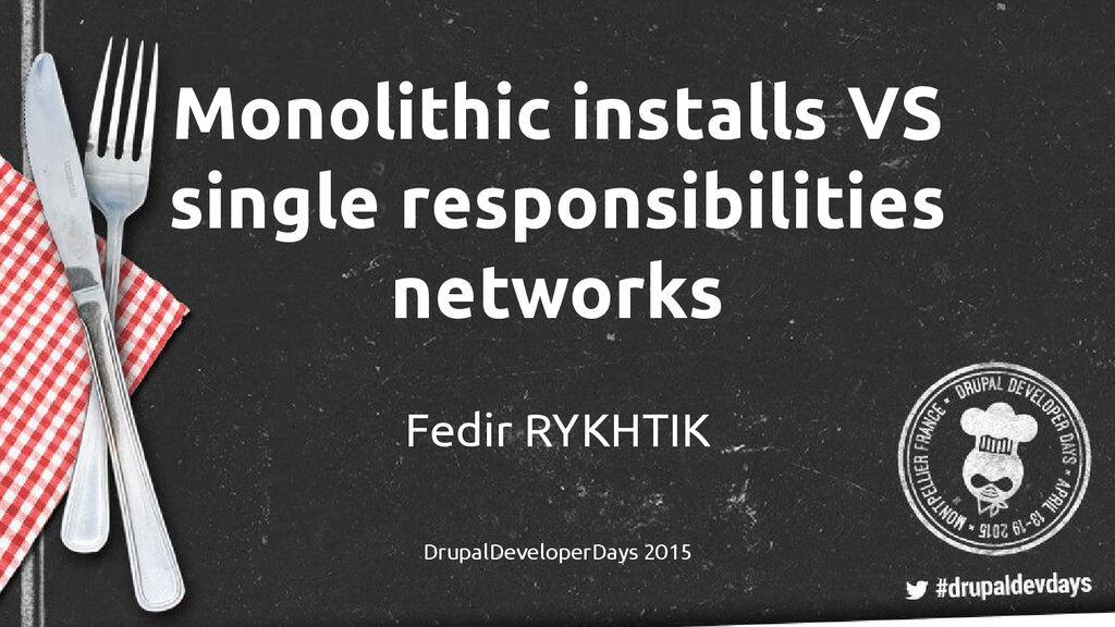 Monolithic installs VS single responsibilities ...