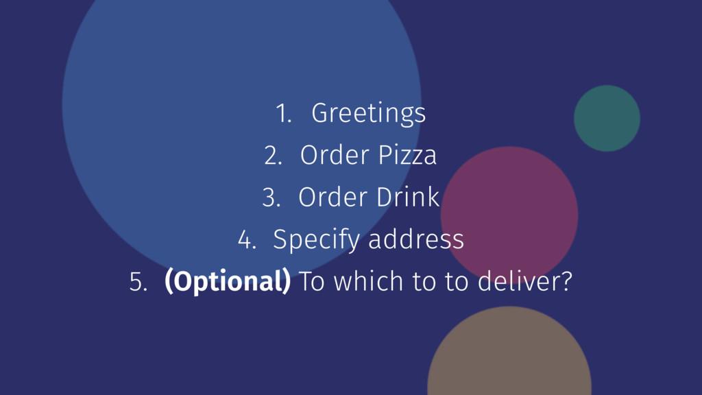1. Greetings 2. Order Pizza 3. Order Drink 4. S...