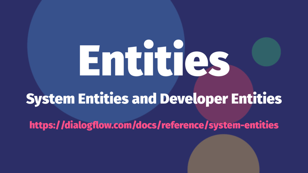 Entities System Entities and Developer Entities...