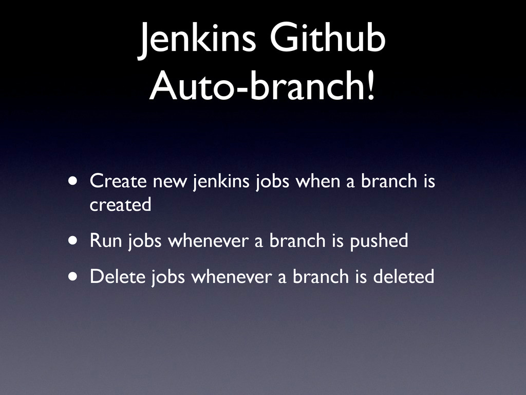 Jenkins Github Auto-branch! • Create new jenkin...