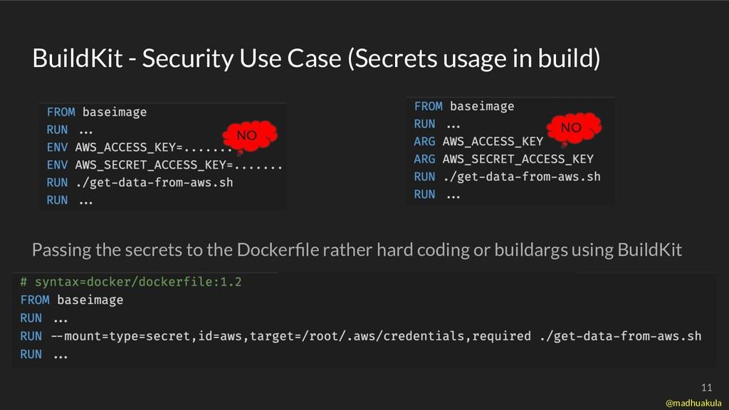 BuildKit - Security Use Case (Secrets usage in ...