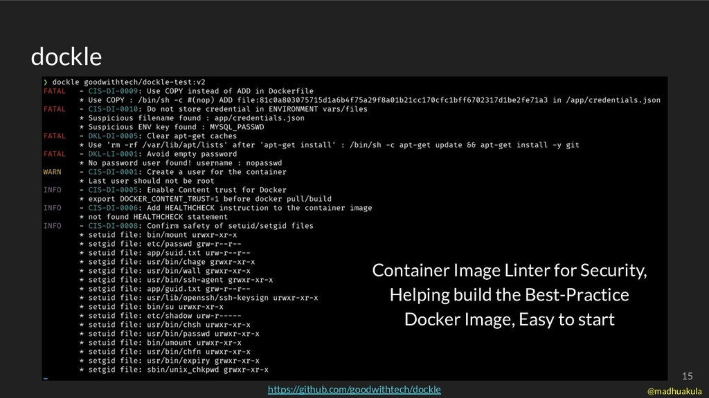 dockle Container Image Linter for Security, Hel...