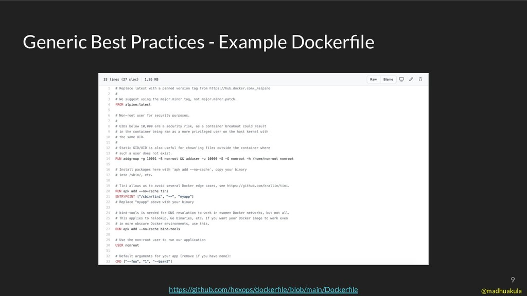 Generic Best Practices - Example Dockerfile http...