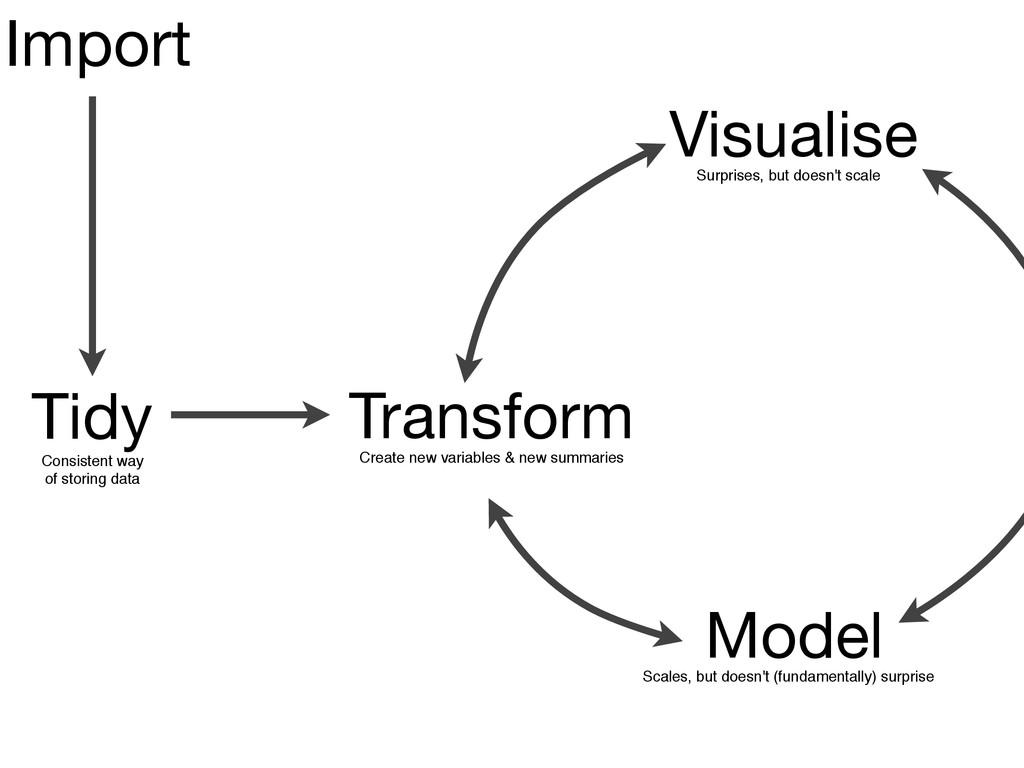 Transform Visualise Model Tidy Import Surprises...