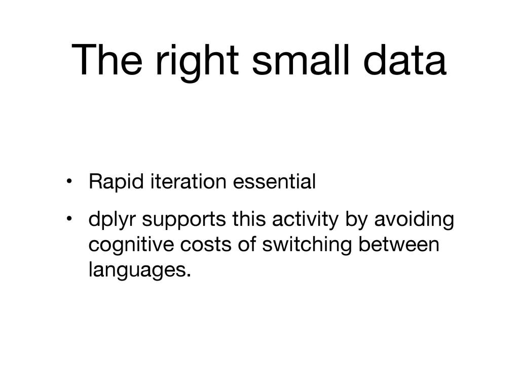The right small data • Rapid iteration essentia...