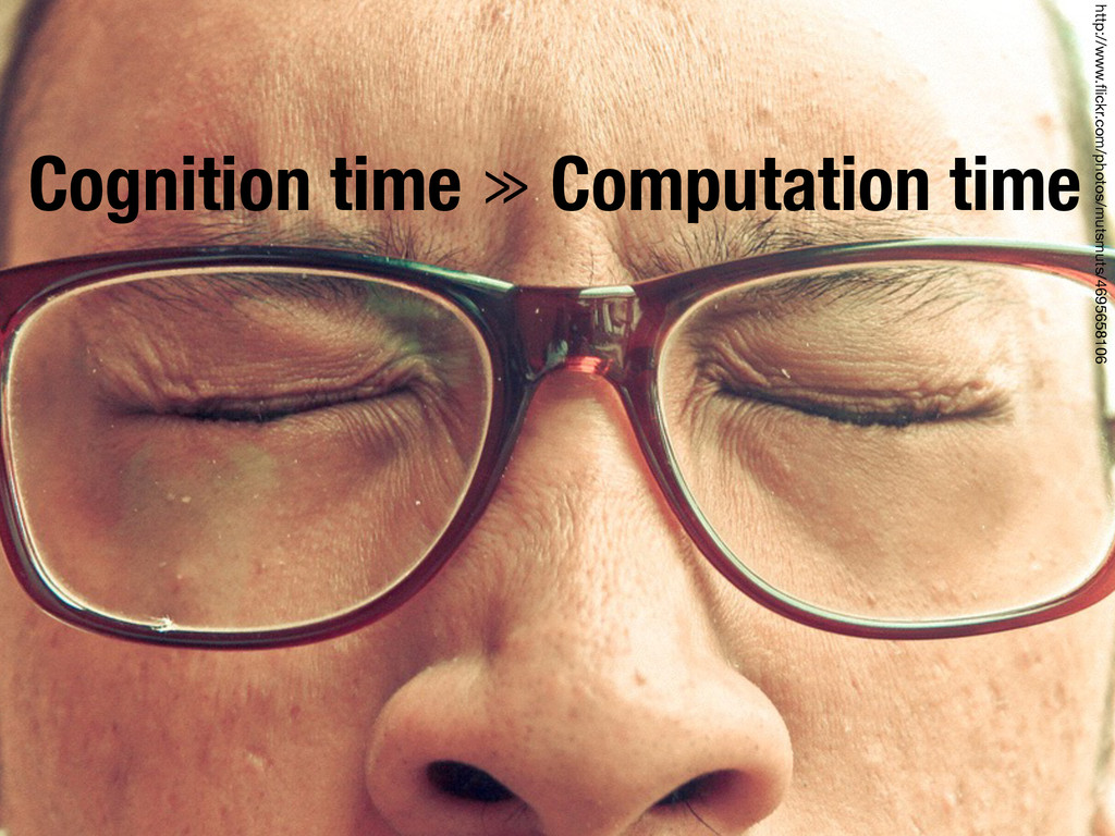 Cognition time ≫ Computation time http://www.fli...