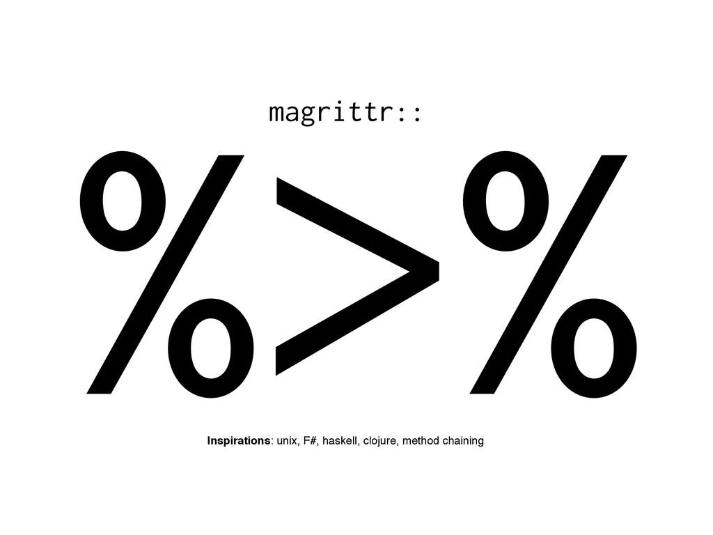 %>% Inspirations: unix, F#, haskell, clojure, m...
