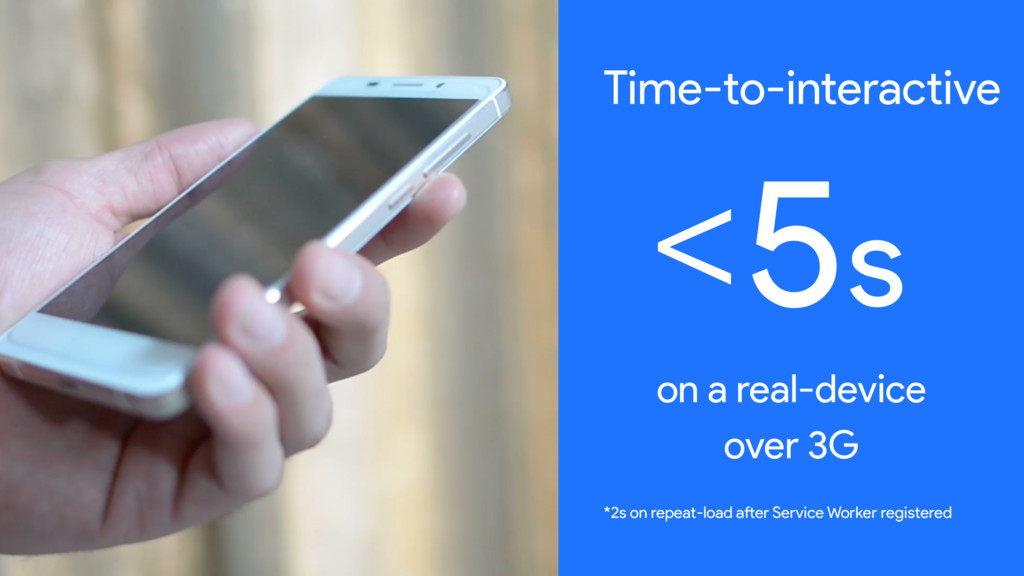 Time-to-interactive <5s on a real-device over 3...