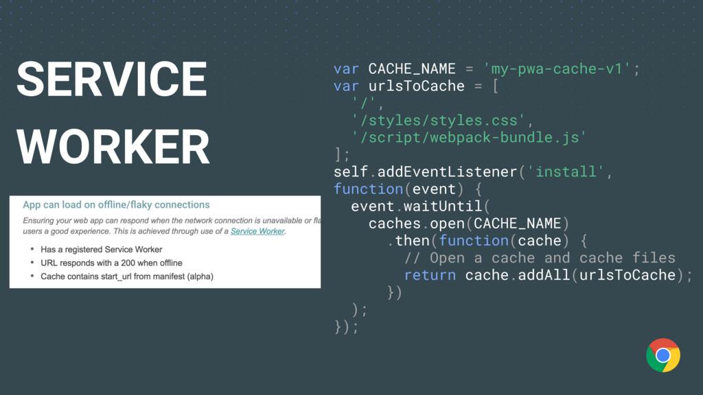 var CACHE_NAME = 'my-pwa-cache-v1'; var urlsToC...