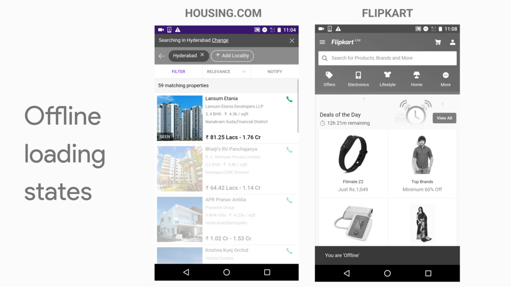 HOUSING.COM FLIPKART Oline loading states