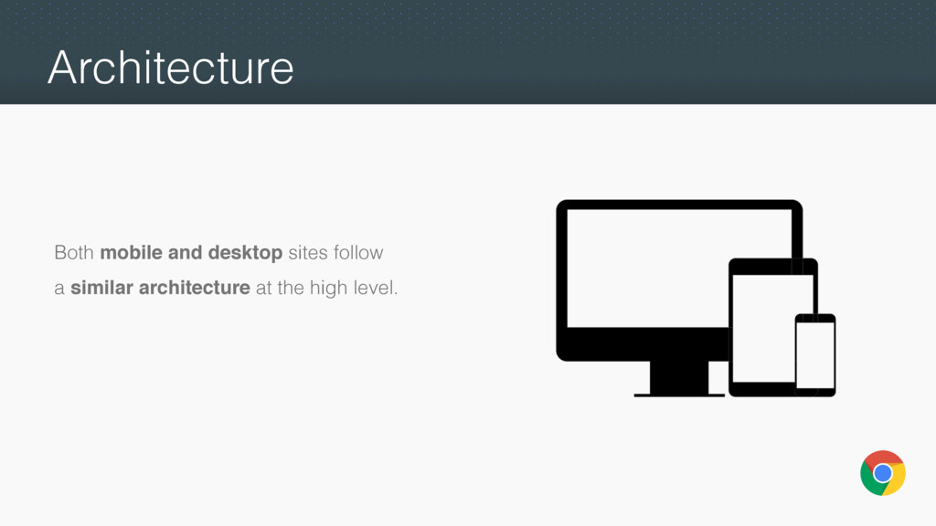Architecture Both mobile and desktop sites foll...