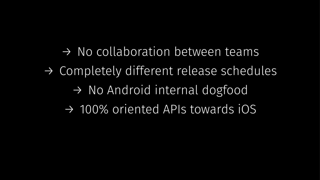 → No collaboration between teams → Completely d...