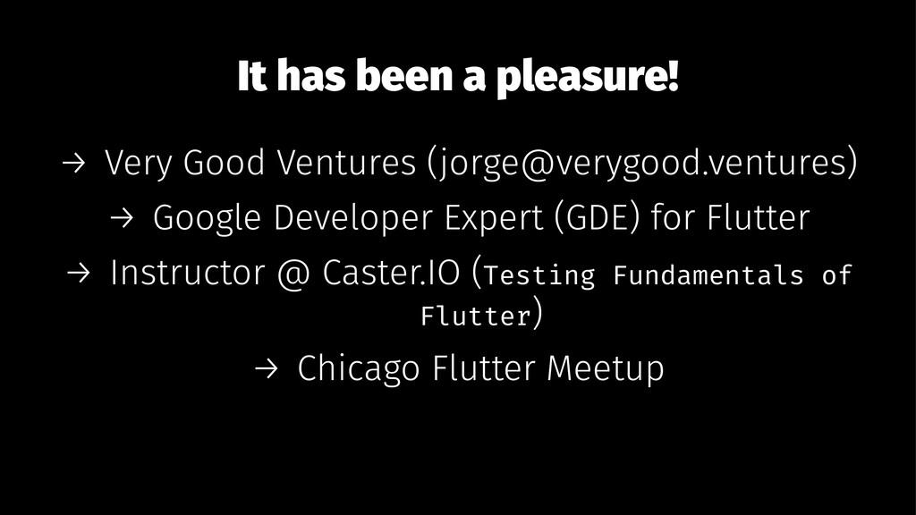 It has been a pleasure! → Very Good Ventures (j...