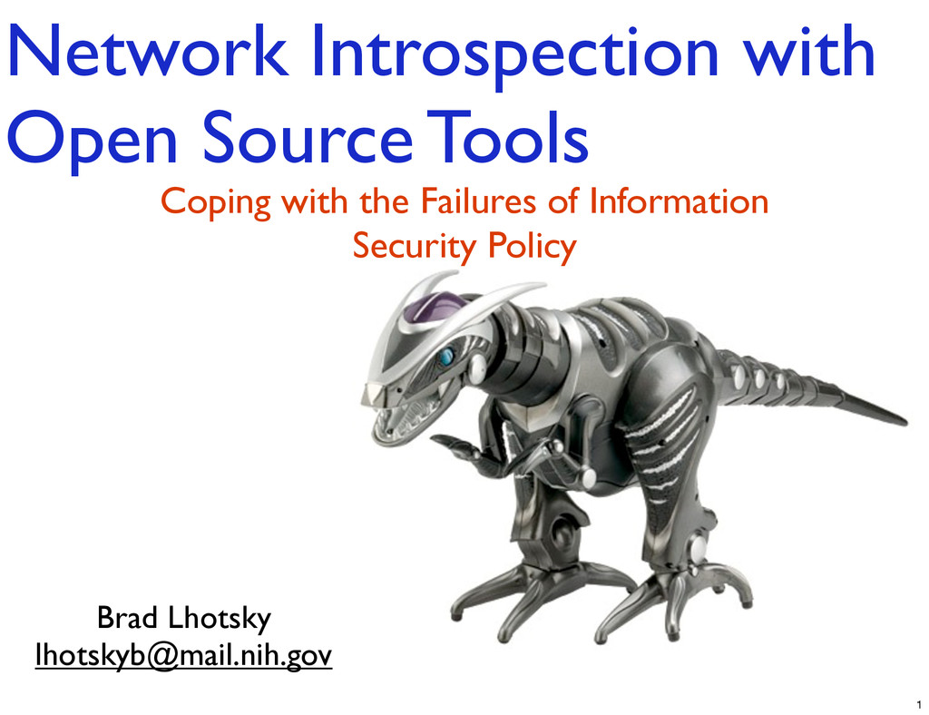 Network Introspection with Open Source Tools Br...