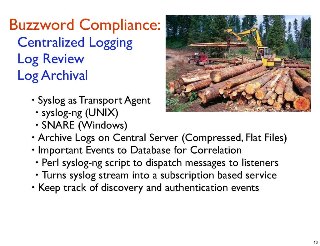 Buzzword Compliance: Centralized Logging Log Re...
