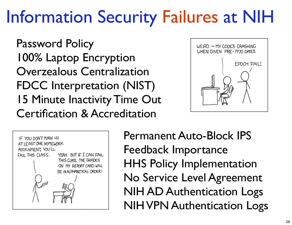Information Security Failures at NIH Password P...