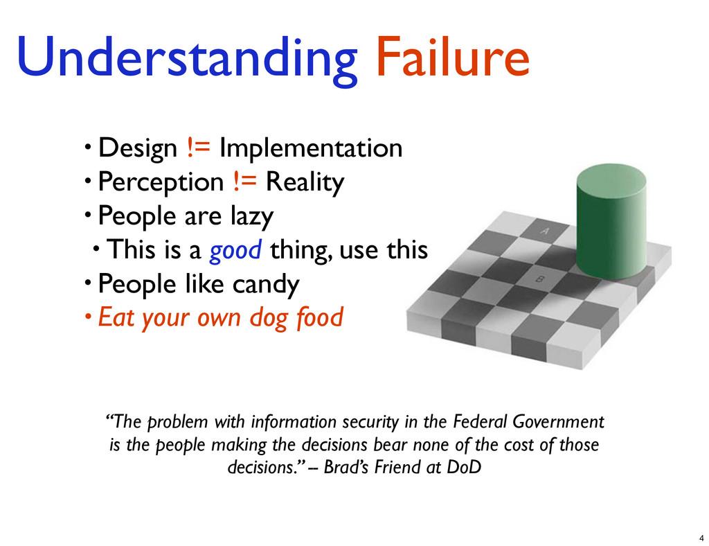 Understanding Failure • Design != Implementatio...