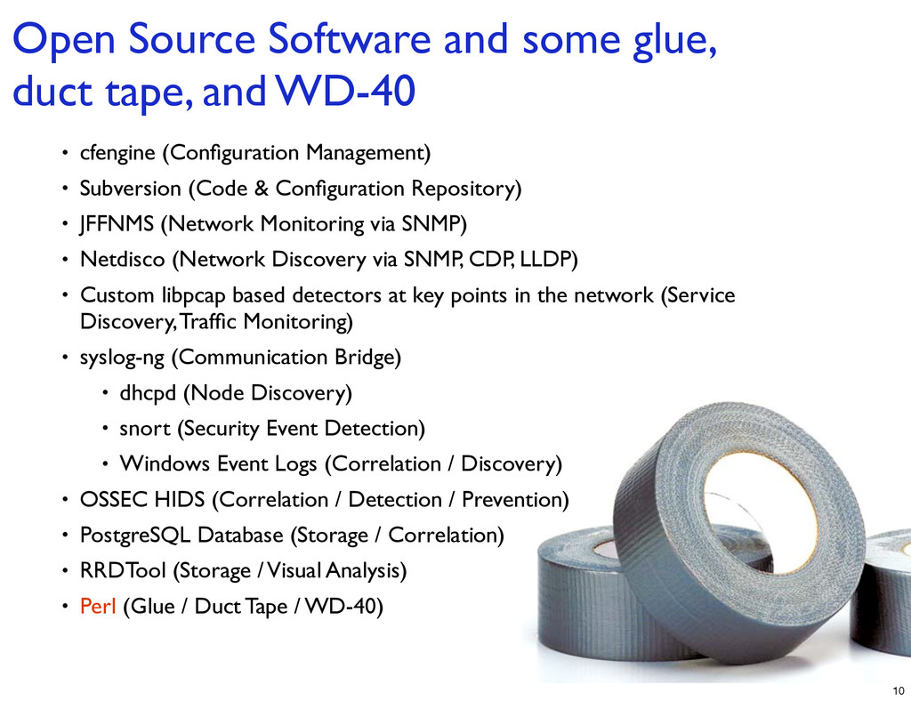 Open Source Software and some glue, duct tape, ...