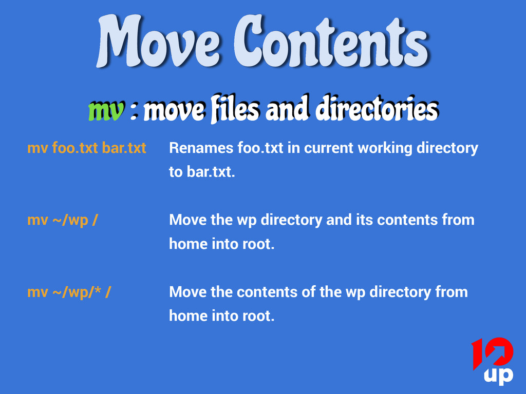 Move Contents mv : move files and directories m...