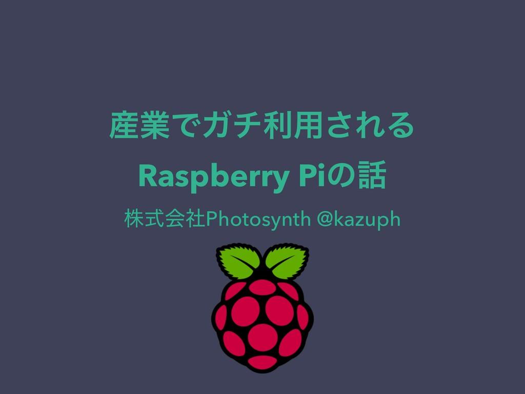 ۀͰΨνར༻͞ΕΔ Raspberry Piͷ גࣜձࣾPhotosynth @kazuph