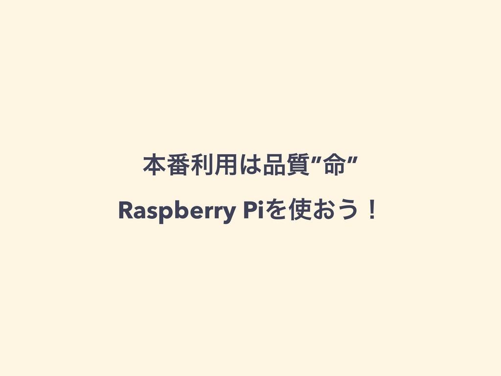 """ຊ൪ར༻࣭""""໋"""" Raspberry PiΛ͓͏ʂ"""