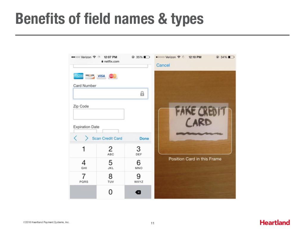 Benefits of field names & types ©2016 Heartland...