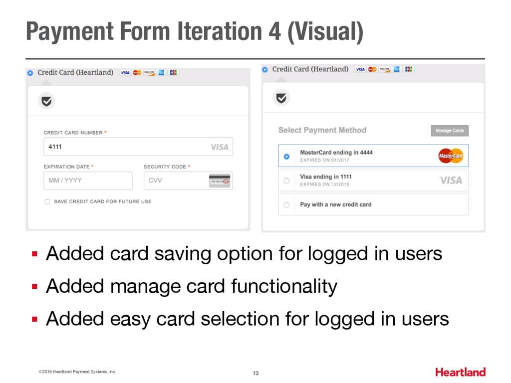 Payment Form Iteration 4 (Visual) ©2016 Heartla...