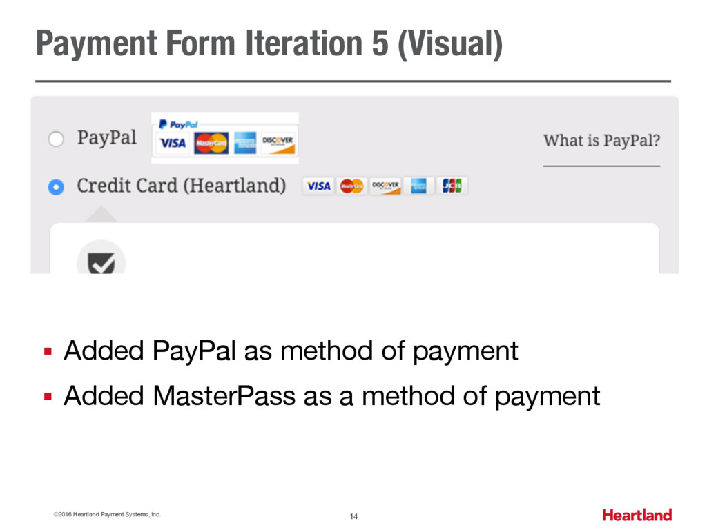 Payment Form Iteration 5 (Visual) ©2016 Heartla...
