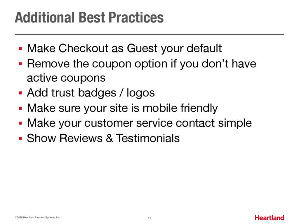 Additional Best Practices § Make Checkout as Gu...
