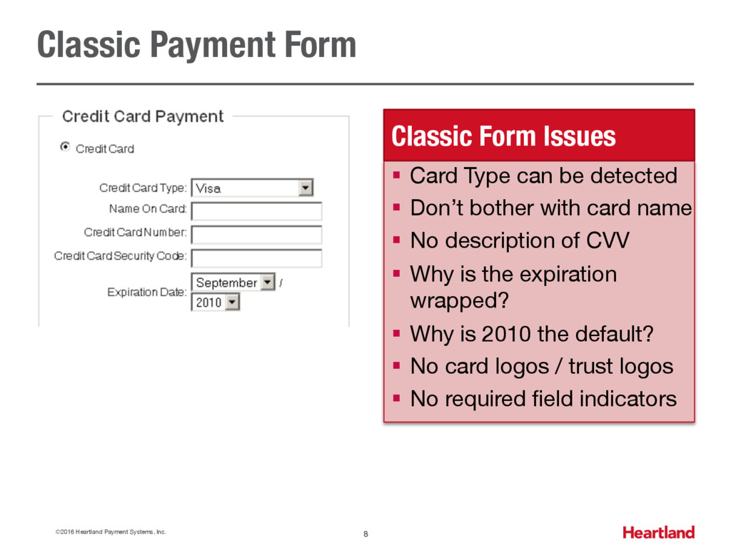 Classic Payment Form ©2016 Heartland Payment Sy...