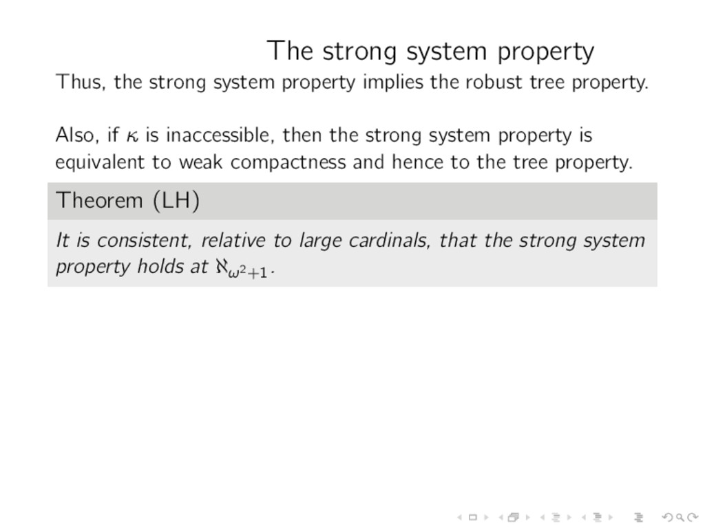 The strong system property Thus, the strong sys...
