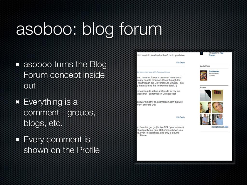 asoboo: blog forum asoboo turns the Blog Forum ...