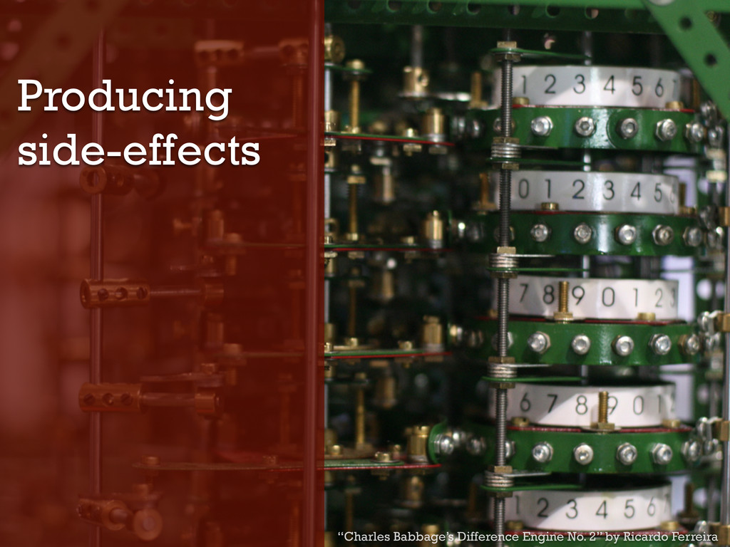 "Producing side-effects ""Charles Babbage's Diffe..."