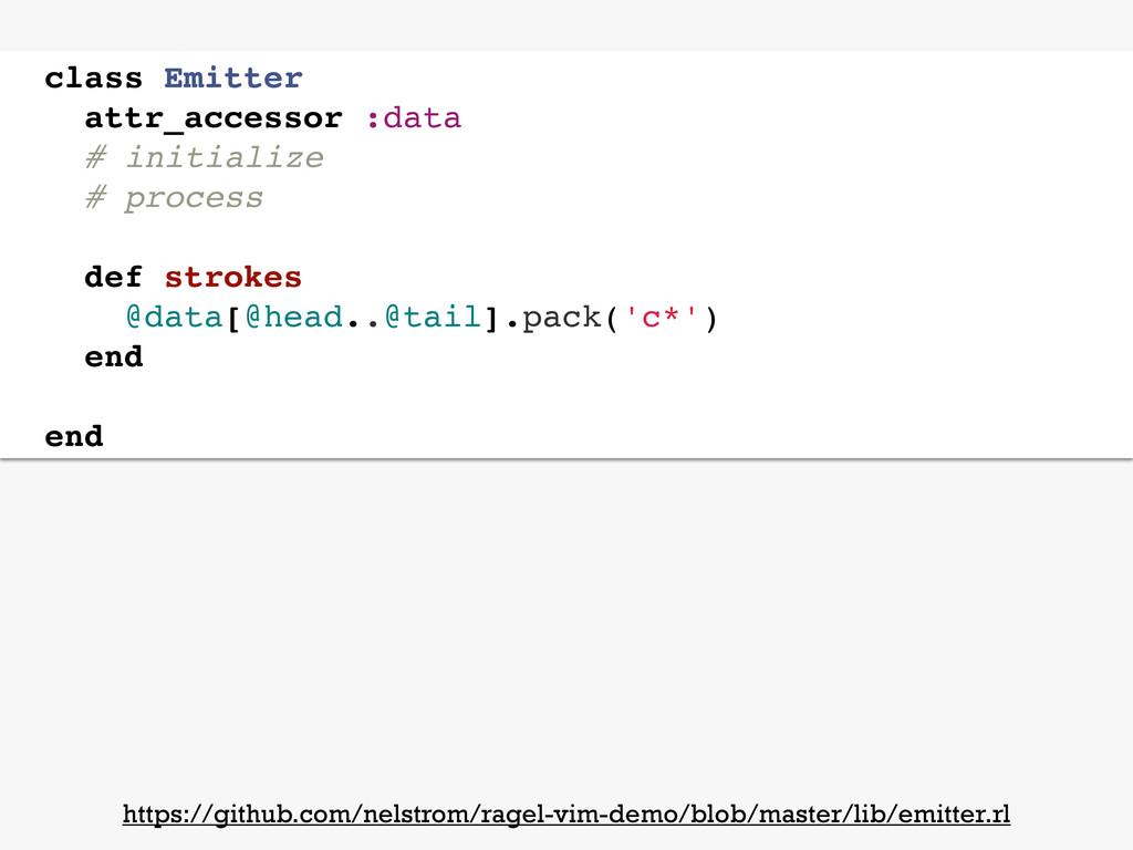 class Emitter attr_accessor :data # initialize ...