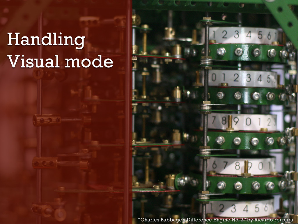 "Handling Visual mode ""Charles Babbage's Differe..."