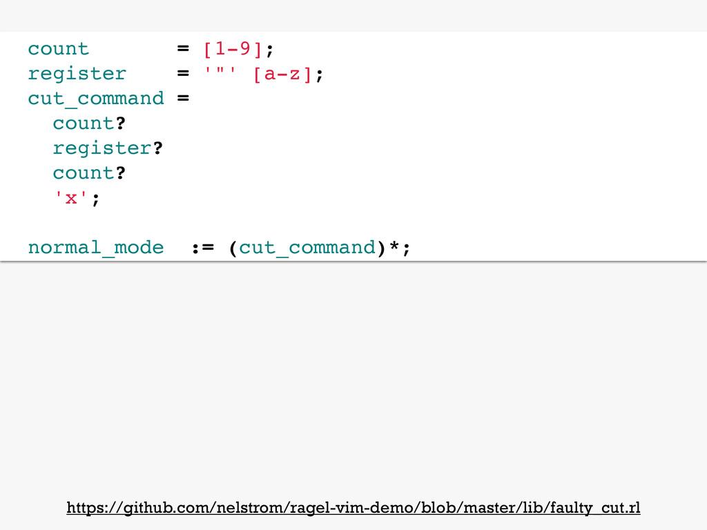"""count = [1-9]; register = '""""' [a-z]; cut_comman..."""