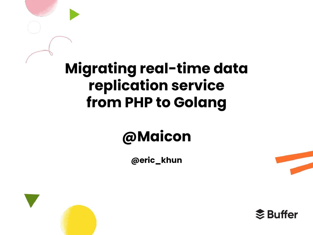 Migrating real-time data replication service fr...