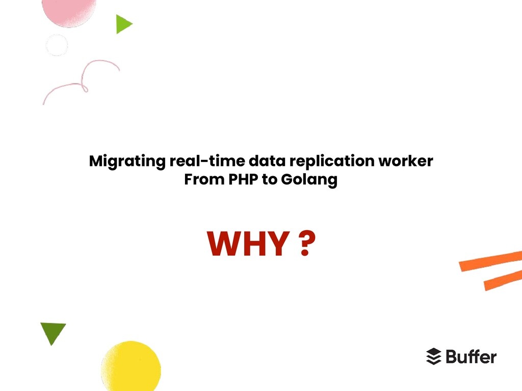 Migrating real-time data replication worker Fro...
